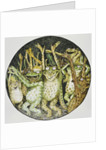 Book Illustration of Frogs Celebrating by John D. Batten