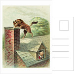 The Wolf Tries to Find a Way Into the Brick House by Blanche Fisher Wright