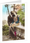 Postcard of a Couple Kissing by Corbis