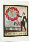 Eleven O'Clock Postcard by A. Hitaf