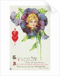 To be a Purple Pansy May Not Suit Your Girlish Fancy Postcard by Corbis