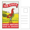 The Cock Matchbox Label by Corbis