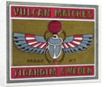 Vulcan Matches Matchbox Labels by Corbis