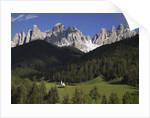 St. Giovanni Church in Val di Funes by Corbis