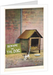 Beware of the Dog Postcard by Corbis