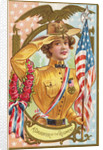 A Daughter of the Regiment Postcard with Woman by Corbis