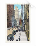 Wall Street Looking West, New York City Postcard by Irving Underhill