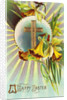 A Happy Easter Postcard with a Cross by Corbis