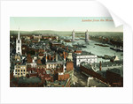 London from the Monument Postcard by Corbis