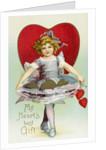 My Heart's Best Gift Valentine Postcard by Corbis