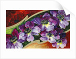 A Happy Birthday Postcard with Purple Clematis by Corbis