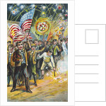 Postcard of Boys with Fireworks on 4th of July by Corbis