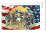 Washington Taking Command of the Army Postcard by Corbis