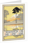Greetings for the New Year Postcard by Corbis