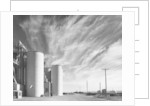 Grain Elevators with Clouds by Gordon Osmundson