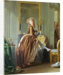 An Elegant Woman Dresses by Michel Garnier