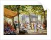 A Parisian Flower Market by Eugene Auguste Francois Deully