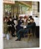 At the Cafe de la Paix by Georges Croegaert