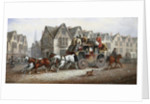 A Stagecoach Settting Out by John Charles Maggs