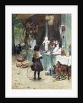 A Young Girl in the Jardins des Champs Elysees by Victor Gilbert