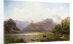 An Alpine Landscape by Anton Hlavacek