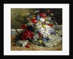 Daisies, Cornflowers and Poppies by Eugene Henri Cauchois