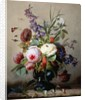 A Still Life of Summer Flowers by Hans Hermann
