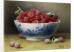A Bowl of Raspberries by Willam B. Hough