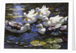 Ducks on the River by Alexander Max Koester