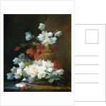 Still-Life of Christmas Roses by Charles Etienne Guerin