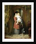 A Christmas Kiss by George Bernard O'Neill