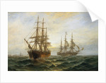 A Frigate Outward Bound Off Shoeburyness by Claude Thomas Stanfield Moore