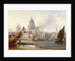 St. Paul's Cathedral and the City of London, England by George Chambers
