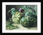 A Still Life of Pumpkins and Artichokes by Carl Vilhelm Balsgaard