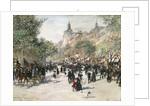 Boulevard Haussmann, Paris by Jean Francois Raffaelli