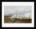 A Regatta at Plymouth, England by Henry A. Luscombe