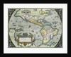 Americae Sive Novi Orbis, Nova Descriptio Map by Abraham Ortelius