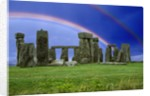 Double Rainbow over Stonehenge by Corbis