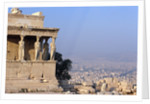 Carytids of Acropolis Overlooking Athens by Corbis