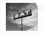 "Vintage ""Eat"" Restaurant Sign by Corbis"