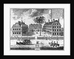 Early 18th-Century View of Harvard College by Corbis