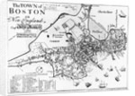 1722 Map of Boston by Corbis