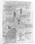 Drawings of Parachute Experiments and Flying Machines by Leonardo da Vinci