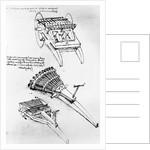 Drawings of Multi-barreled Guns by Leonardo da Vinci