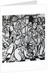Assassination of Galeazzo Maria Sforza, tyrant of Milan, in San Stefano Church, 1476. Florentine wood by Corbis