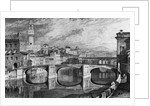 Florence, Italy: The Ponte Vecchio. Undated by J.M.W. Turner. R.A. from a finished sketch by James Iiakewill. Engraved by S. Rawle