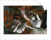 Detail of Ballerinas from The Rehearsal by Edgar Degas