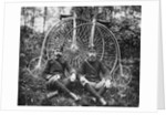 Early Bicyclists Taking a Break by Highwheelers