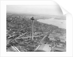 Aerial View of Seattle and Space Needle, 1962 by Corbis