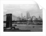 Manhattan Skyline And Brooklyn Bridge by Corbis